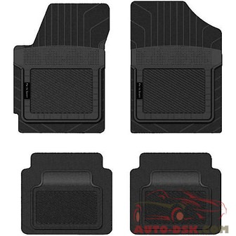 PantsSaver Custom Fit Car Mat 4PC Honda Pilot 2004 Black - part #1211041